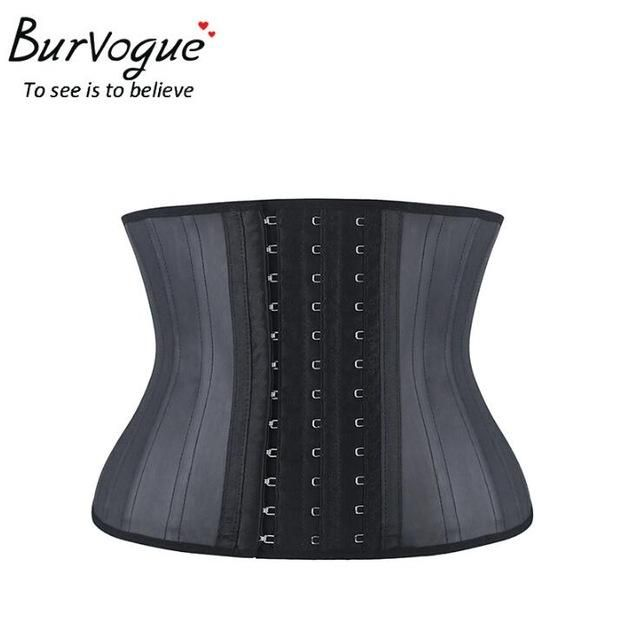 BURVOGUE Underbust Latex Steel Boned Waist Training Corset