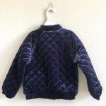 Baby Gap Blue Velvet Flight Jacket This pre-loved velvet flight jacket by Baby G...