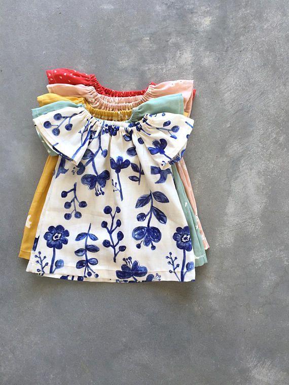 Baby dress, girls dresses, double gauze dress, baby gauze clothes, baby summer clothes, floral gauze dress, girls dress – 0-3yrs