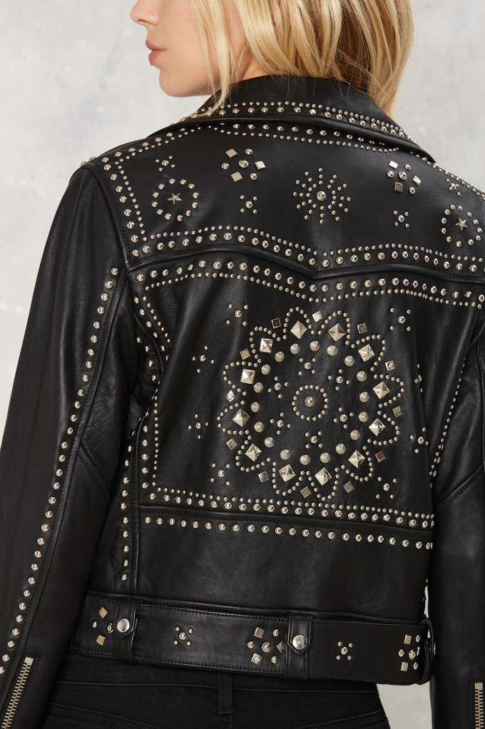 Bad Motor Faux Leather Moto Jacket