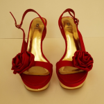 Bakers Platform Heels Size 8.5B Bakers Platform Heels. Size 8.5B, red and gold, ...