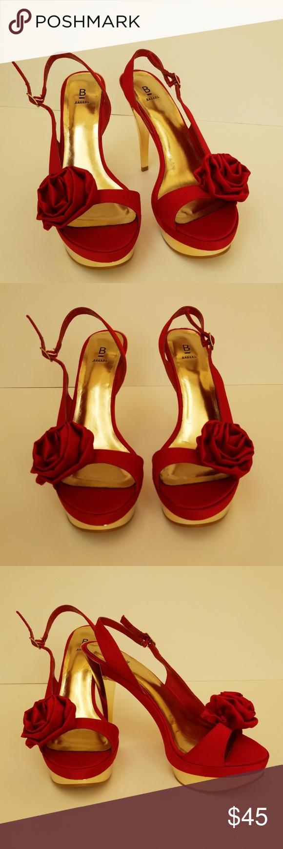 Bakers Platform Heels Size 8.5B Bakers Platform Heels. Size 8.5B, red and gold, …