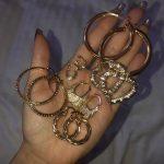 Bamboo heart earrings