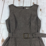 Banana Republic Wool Lined Career Dress 6 Belted Excellent Condition Banana Repu...