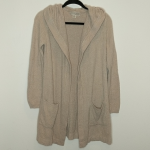 Barefoot Dreams Coastal Hooded Cardigan Beige cardigan from Barefoot Dreams. Hoo...
