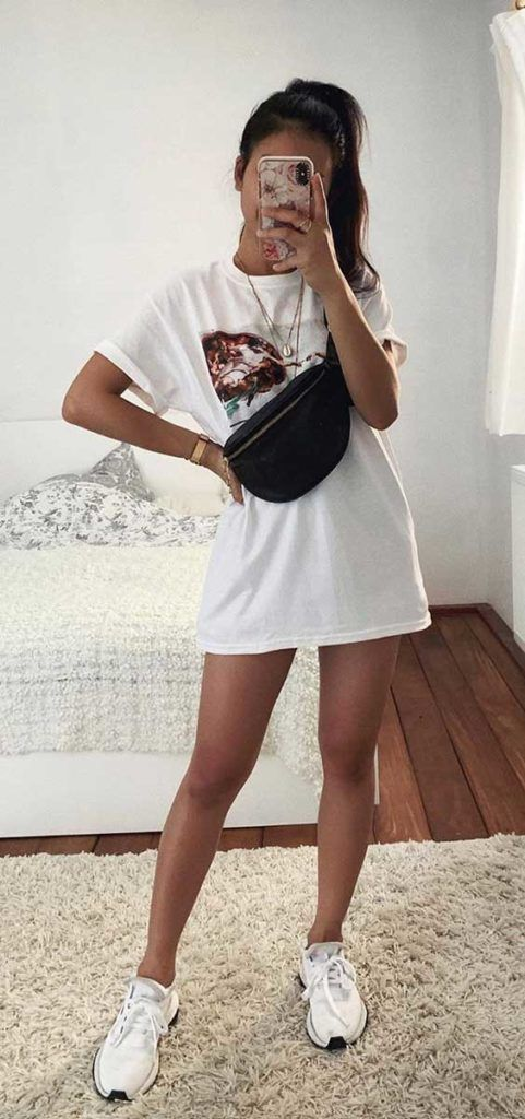 Basic T-shirt Outfits For Summer :)