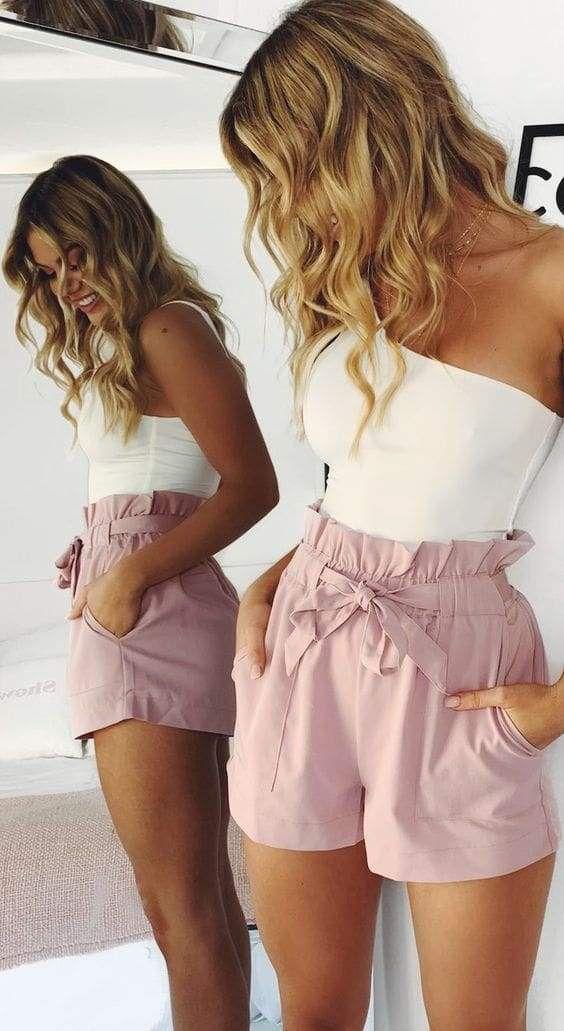 Beach Hot Pants Summer Shorts Beach High Waist Shorts Ladies Shorts
