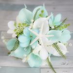 Beach Wedding Bouquet, Tropical Bouquet, Silk Wedding Bouquets, Real Touch Bouquet, Aqua Bouquet, Turquoise Bouquet, Beach Wedding Flowers