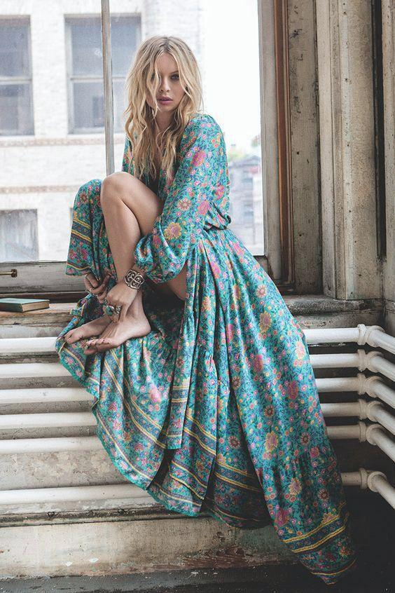 Beautiful Maxi Dresses: Bohemian Blues & Greens