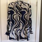 Beechers Brook Silk Blouse Size XL