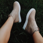 Beige Ankle Sneaker Boots Outfit Ideas