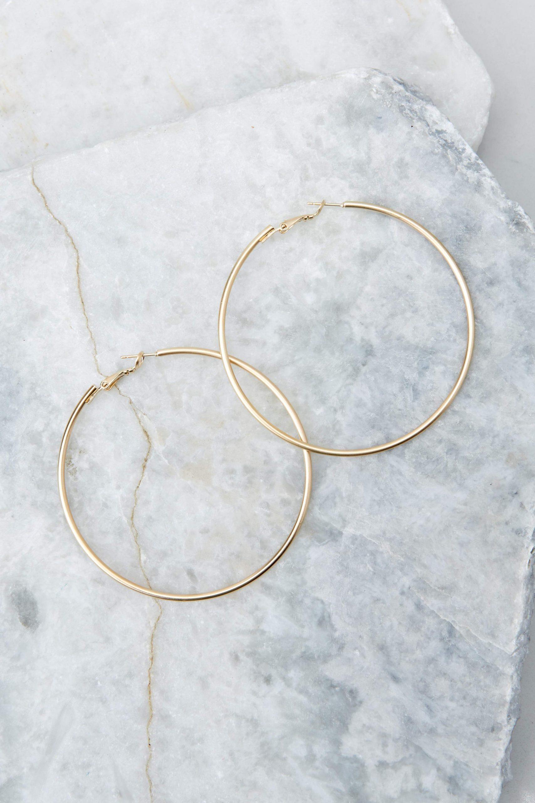 Best Believe It Gold Hoop Earrings