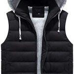 Best Seller HEJOMFXA Men Parka Hooded Vest Winter Autumn New Thick Warm Casual Windbreaker Baggy Padded Outerwear online