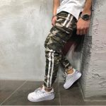 Best Seller Men Hip Hop camouflage printed stitching striped harem Pants
