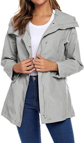 Best Seller Women's Raincoats Waterproof Rain Jacket Lightweight Hooded Windbreaker Active Outdoor Trench Coats online