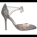 Betsey Johnson Silver Glitter Heels Silver Glitter heels by Betsey Johnson. New ...