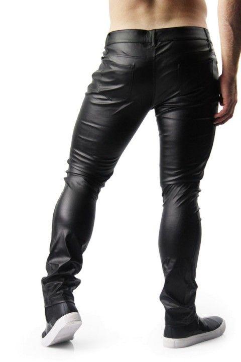 Black Leather Legging Pants
