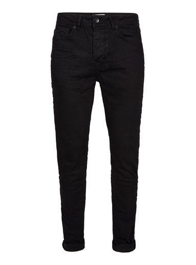 Black Overdyed Stretch Skinny Jeans