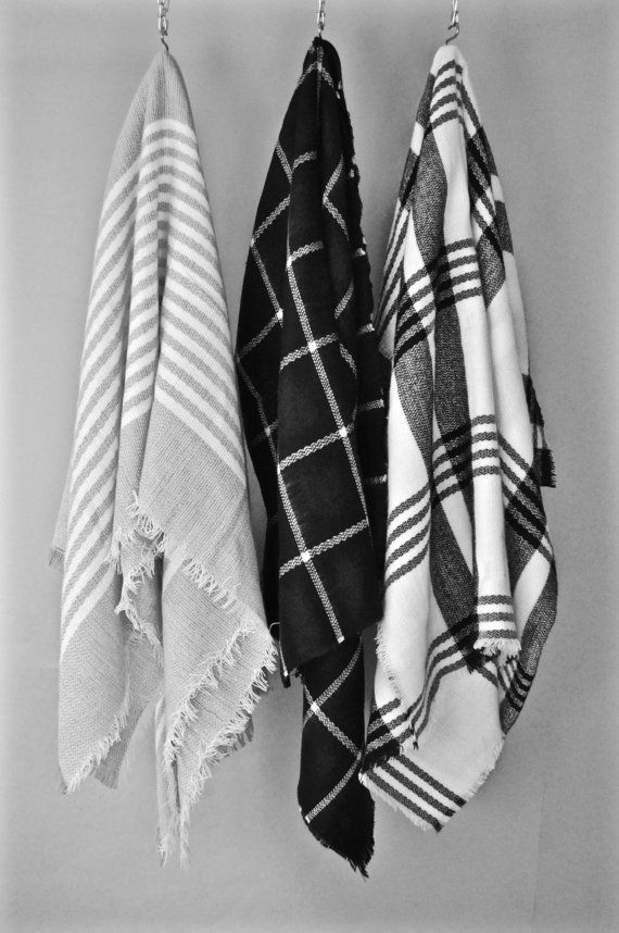 Blanket Scarf Gift for Her Black Friday Plaid Scarf Check Scarf Plaid Shawl Tart…