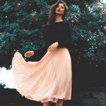 Blush Pink Prom Dresses,A-Line Prom Dress,Simple Prom Dress,Chiffon Prom Dress,Simple Evening Gowns