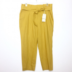Boden St. Ives Paperbag Pants in Mustard Yellow 14 Excellent condition! NWT! Mus...