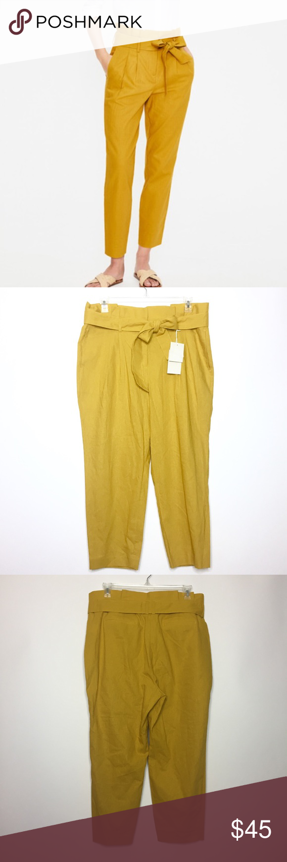 Boden St. Ives Paperbag Pants in Mustard Yellow 14 Excellent condition! NWT! Mus…