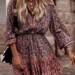 Bohemian Style Floral Printed Midi Dresses