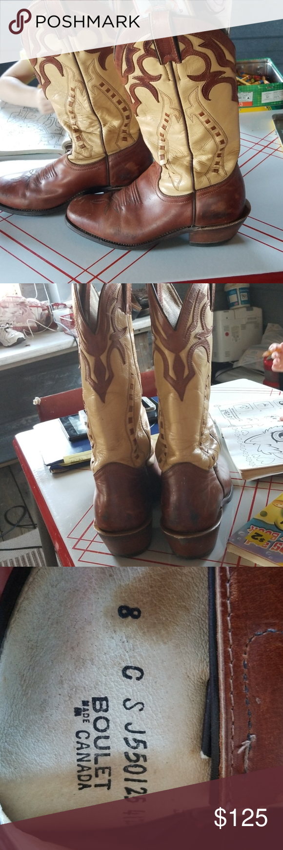 Boulet Boots size 8 Very nice boots.  I've worn them riding a few times. They ar…