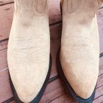 Boulet Leather Cowboy Boots 7.5 Beige Topstich Beautiful suede Boulet boots in a