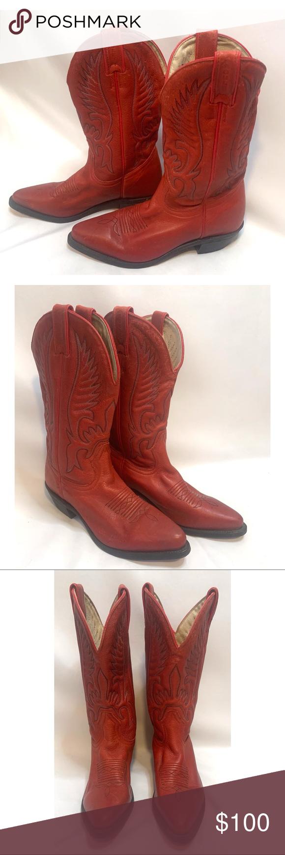 Boulet vintage size 6.5 women's red cowboy boots Boulet vintage size 6.5 women…