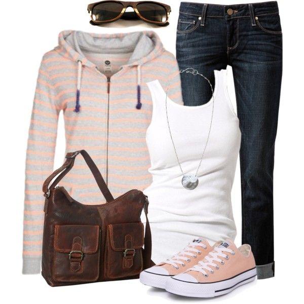 Boyfriend Jeans & Striped Top