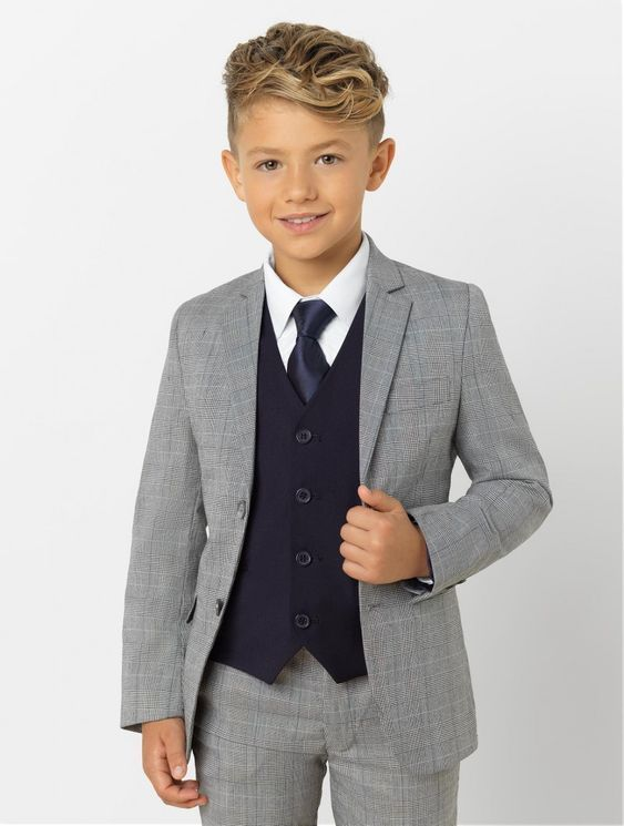 Boys grey & navy suit – Henry