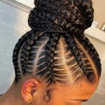 Braided Bun Hairstyle Idea for Natural Hair! . . Natural Hair, Natural Hairstyle...
