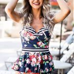 Breanne Floral Peplum Swimsuit - $94