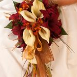 Bride Fall Wedding Bridesmaid Bouquet and Boutonnière 2 Piece