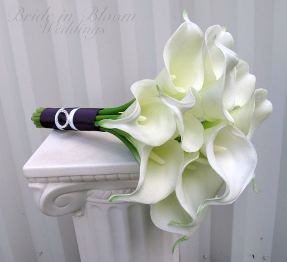 Bridesmaid bouquet – White Calla lily wedding bouquet