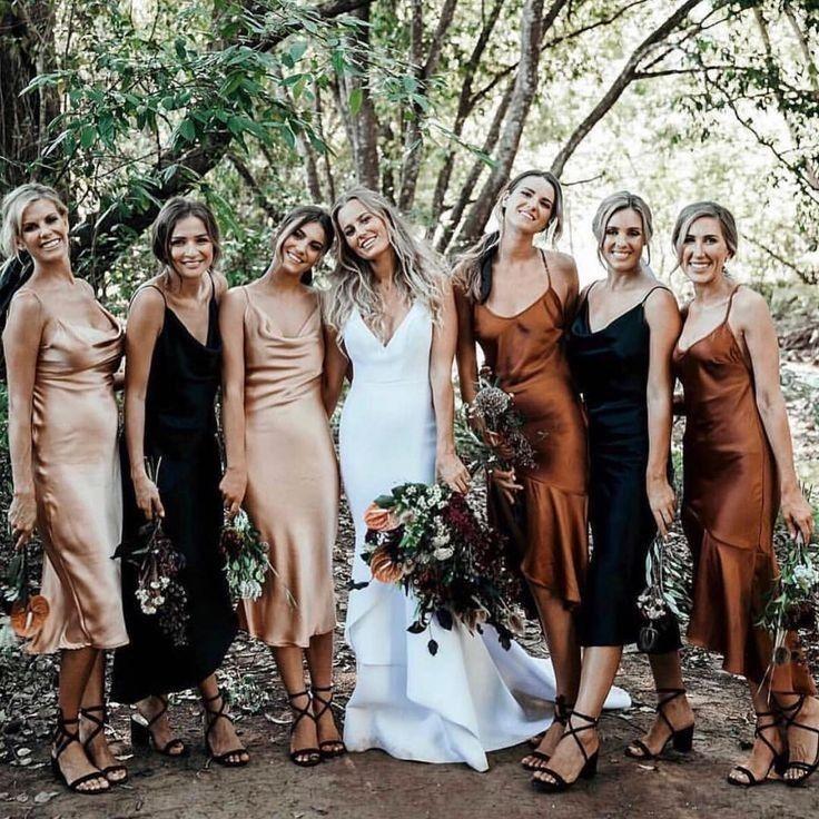Bridesmaid dress MANY COLORS silk slip Cowl neck line dresses natural silk satin slip midi gown Silk Cowl Slip dress for wedding bridesmaids