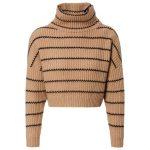 Brunello Cucinelli Damen Cropped Cashmere-Pullover Camel/Schwarz - bei... (146,7...