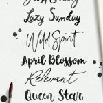 Brush Font Faves