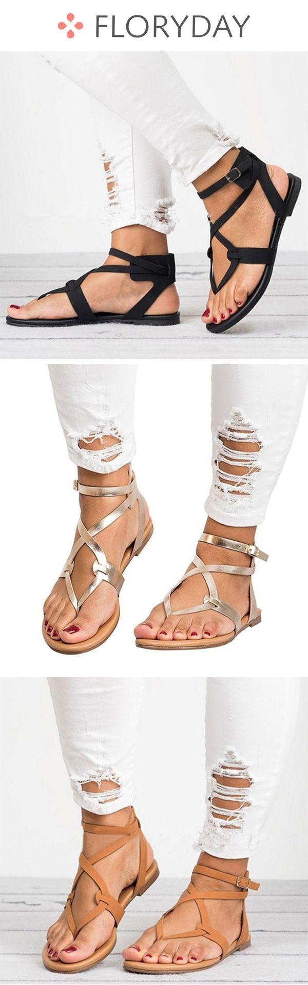 Buckle Flats PU Flat Heel Shoes, buckle shoes, flat shoes,