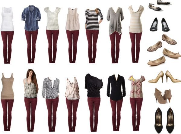 Burgundy Jeans – Outfit Ideas