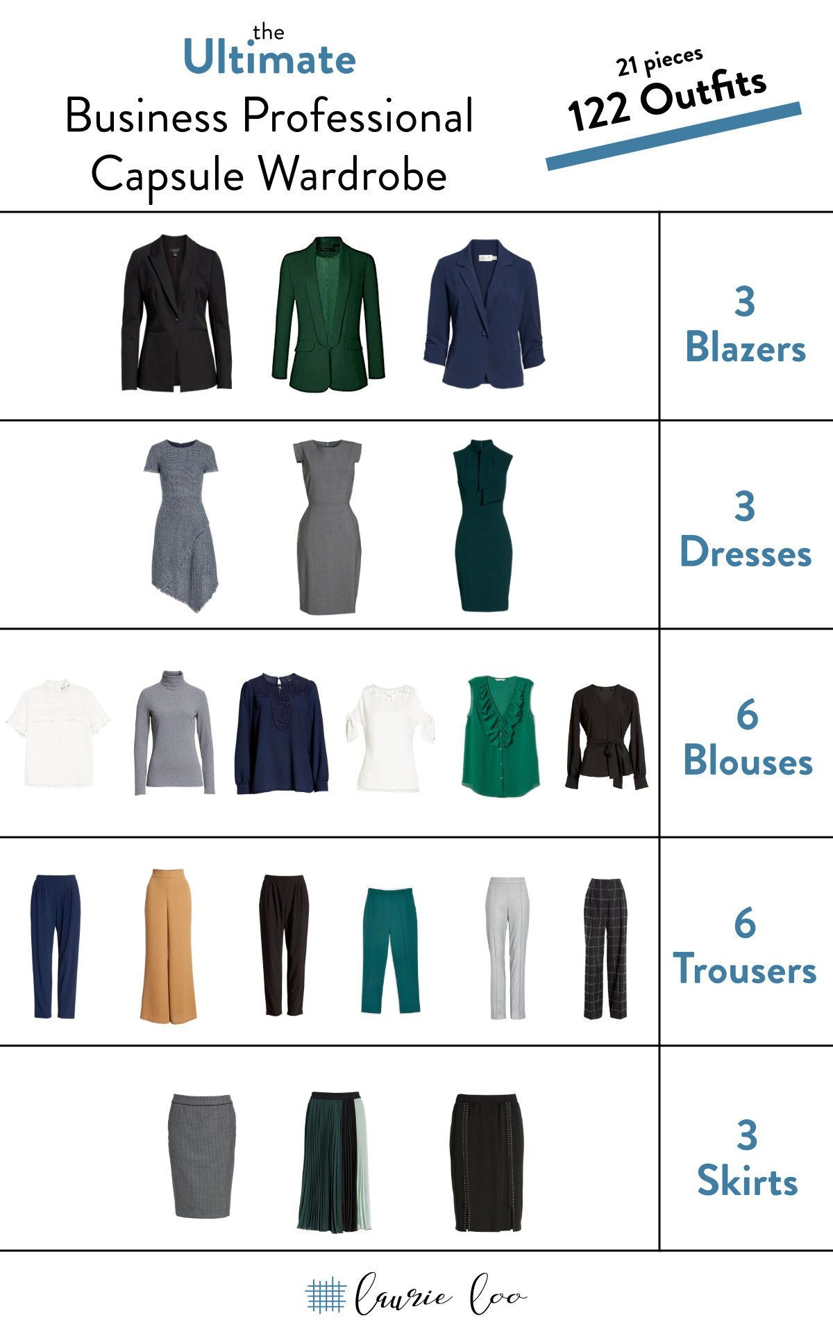 Business Professional Capsule Wardrobe — The Laurie Loo