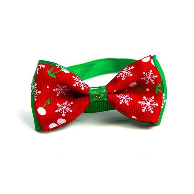 Buy Christmas Dog Cat Bow Ties, Dog Ties, pet Collar DogBoutique, Dog Collar acc…