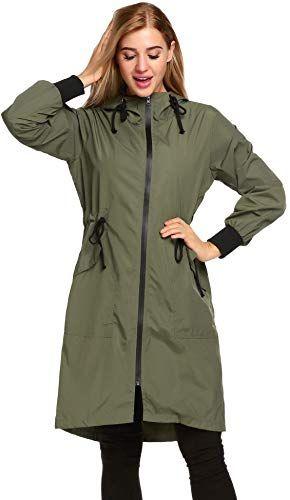 Buy Zeagoo Women's Raincoat Lightweight Hooded Jacket Waterproof Packable Active Outdoor Rain Coats online