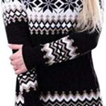 Buy iFOMO 2018 Winter Christmas Snowflake Print Vintage Cable Knit Tunic Turtleneck Sweater Tops Mini Hip Dress Women online