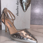 CHARLES DAVID Anne collection silver stilettos Gorgeous Charles David Heels Coll...
