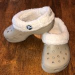 CROCS Shoes | Crocs Sherpa Lined Clogs Shoes Tan C 89 Euc | Color: Cream/Tan | S...