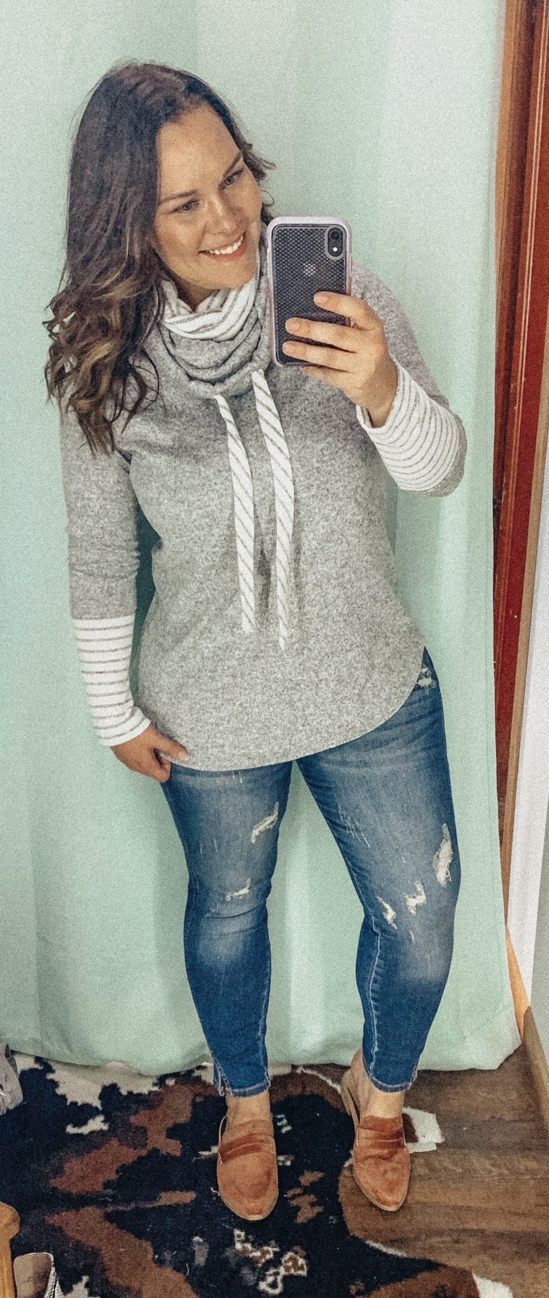 Cabin Fever Cowl Neck Sweater
