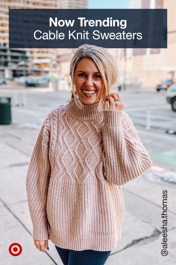 Cable knit sweaters are perfect, trendy cold-weather outfits. Find your go-to ov…