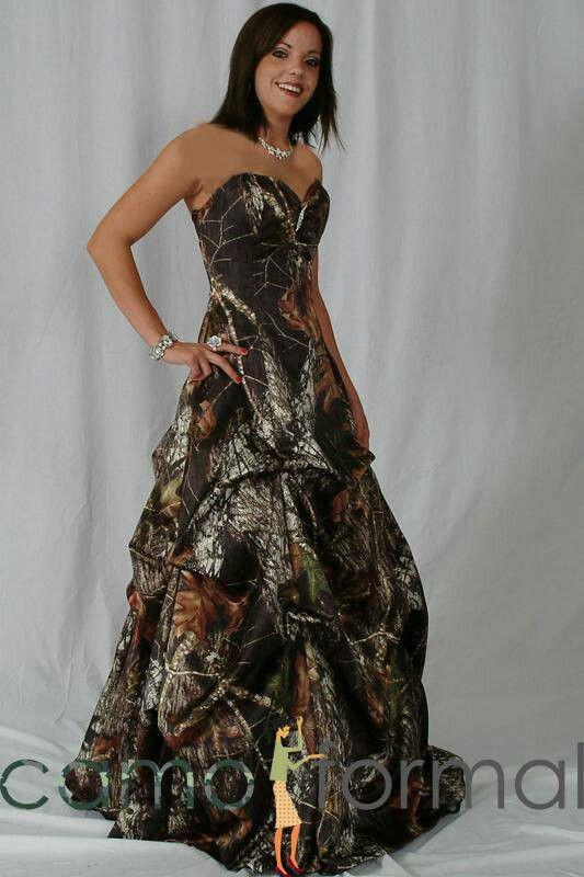 Camo wedding dress! camoformal.com/
